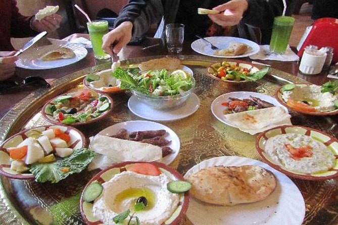 This 2-hour private Arabic BBQ Mezza lunch or dinner is a perfect chance for you to treat yourself and your loved one to a nice meal in one of Amman's famous local restaurants. Round-trip transportation from your hotel with a driver is included.