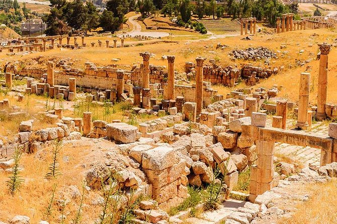 Set out to explore Jordan Archaeology on this private 9- hour trip, start by exploring the black stone of the ancient Greco-Roman city of Um Qais. Its offers beautiful views over the Northern Jordan Valley, the Sea of Galilee, and the Golan Heights. Proceed to Jerash to see the incredible relics, including the Oval Plaza, gateways and streets, lastly you will visit  one of the greatest examples of Islamic Ayyubid military architecture Medieval Castle of Ajloun. , built by the Muslims during the 12th Century in the time of Saladin for defensive purposes during the crusaders.