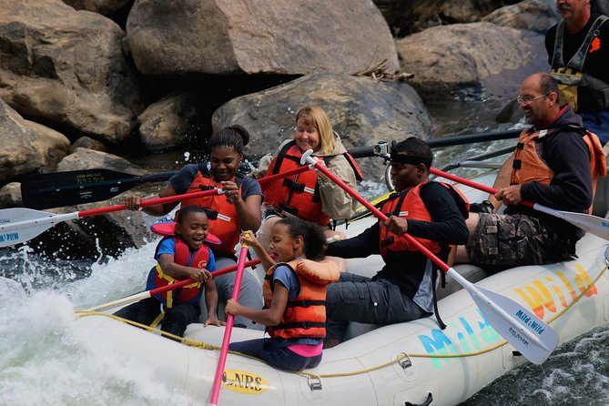 Explore Durango's Lower Animas River on this half-day family rafting trip through town. The Lower Animas is a popular river for visitors and locals alike. Get a uniqueview of Durango through the rapids, savor a river side snack and experiencethe scenic beauty south of town. Paddle along with the guide or sit back and relax as the guide does all the work. Learn the history of the region and stories of local traditions as you experience Durango, Colorado river rafting. Rafting on the Lower Animas in Durango offers a great mild trip option for ages 4 and up.