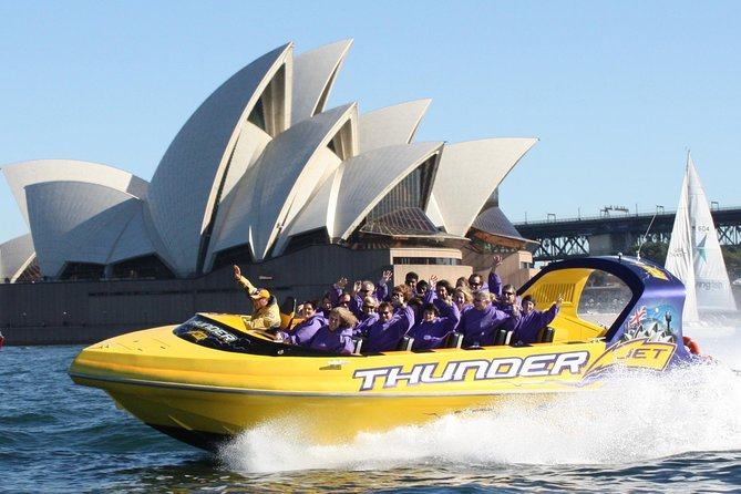 Experience what jet boating is all about on Australia's most exciting Jet Boat! Get ready to hold on tight as the 'Thunder' opens up with amazing stunts and wild spins through Sydney Harbour.