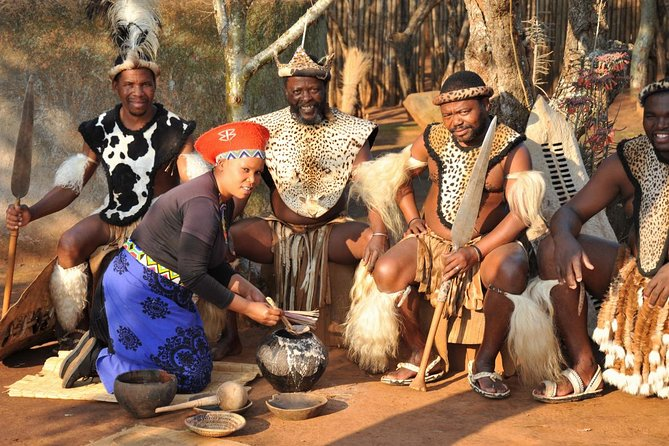 "Experience the Zulu Culture first-hand with a visit to South Africa's most famous cultural village - Shakaland - situated a mere 170km north of Durban. This ""Living Museum"" was created around the film set of the epic film, Shaka Zulu! Your day will be one of interaction with the villagers, who will entertain you with fascinating stories of history, culture and intrigue. You will be introduced to their Sangoma, invited to taste the traditional beer and be mesmerised by their vibrant drumming and dancing. We end the day with a delicious lunch, before returning to Richards Bay."