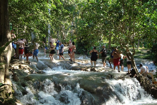 Irie Adventure - Martha Brae Rafting and Dunn's River Falls from Runaway Bay, Ocho Rios, JAMAICA