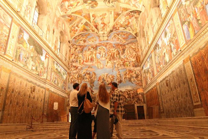 On one of our top-selling Rome tours, skip the line and go straight to Michelangelo's Sistine Chapel with this guided tour. See the Vatican Museums' best galleries and tour St. Peter's Basilica with a professional English-speaking guide. Our Privileged Entrance guided Vatican Museums and Sistine Chapel tour starts at 7:30 a.m. and doors open shortly after 8 a.m. (a full hour before general admission opens).