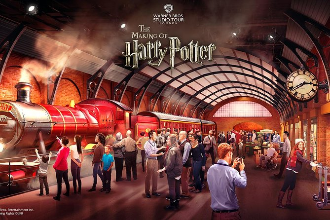 Delve into the magical world of Harry Potter™ at the Warner Bros. Studio Tour London, with round-trip luxury coach transport included. Follow in the footsteps of Hogwarts' students as you walk around original sets like Diagon Alley and Platform 9 ¾, complete with the Hogwarts Express steam engine. Get up close to costumes and props, and discover the wizardry required to create the mind-blowing special effects and animatronics.