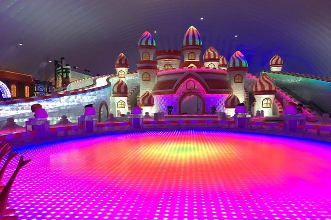 From March through the end of December each year, you could visit this largest indoor theme park in the world, Harbin Ice and Snow World, which was built by using advanced inflation mold construction technology and environmentally green materials. The theme park itself covers an area of 1.5 acres (6,000 square meters) with the amount of 8.1 acre-foot (10,000 cubic meters) of ice. Harbin Ice and Snow World holds several world titles including the world's largest number of ice-scapes and the world's largest single dimension indoor snow park. The indoor temperature is maintained at below minus 50 degree Fahrenheit to minus 60 degree Fahrenheit (minus 10 degrees Celsius to minus 15 degrees Celsius) to hold the sculptures made of natural ice and coloring for you to enjoy.