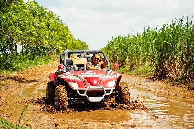 "Experience an unforgettable adventure through the rural roads of Bayahibe behind the wheel of your own ""Cobra"" buggy, one of the most fun off-road vehicles in the Dominican Republic!<br><br>Start this incredible ride with expert guides giving you a brief talk about safety measures and tips to be applied during the tour. Once you're buckled up, you'll be ready to ride your buggy! Drive across exotic trails, remote landscapes, and rivers that display the natural beauty of this beautiful region. <br><br>Then, drive over a path along back roads, and by cane plantations, on your way towards El Gato town. Freshen up at Chavon River, and swim in its calm waters, slide on three fantastic zip lines and navigate the crystal clear waters aboard a kayak. End this splendid day with a final buggy ride to make your way back to base while you say goodbye to this fabulous adventure."