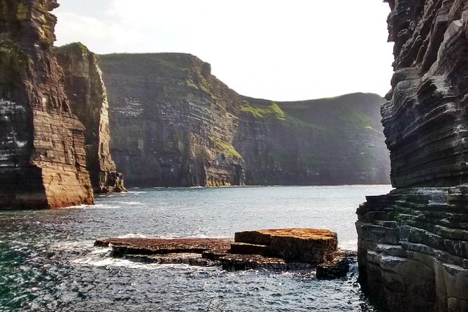 Sail away on a 1-hour boat cruise beneath the Cliffs of Moher, and breathe in the best of the Wild Atlantic Way as seen from just off the coast. Keep an eye out for puffins and guillemots that make their nests on the cliffs, and visit sea stacks and hidden sea caves the riddle the rugged coast. Tours are available from March through October, and you'll never forget seeing the Cliffs of Moher from this stunning, sea level vantage.