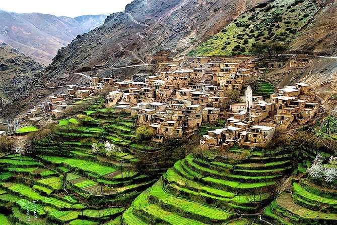 Discover the High Atlas Mountains Five Various Valleys. View several locations along the way with some beautiful panoramic shots of small villages, incredible scenery, and landscapes. Definitely an experience you would not want to miss!