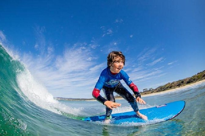 Surf's up in South Australia, where you can take a 2-hour surf lesson at Middleton Beach, south of Adelaide. Learn the basics and practice skills with a qualified surfing instructor. Surfboard, rash top, sunscreen, and wetsuit are provided. Select a morning or afternoon lesson time when booking.