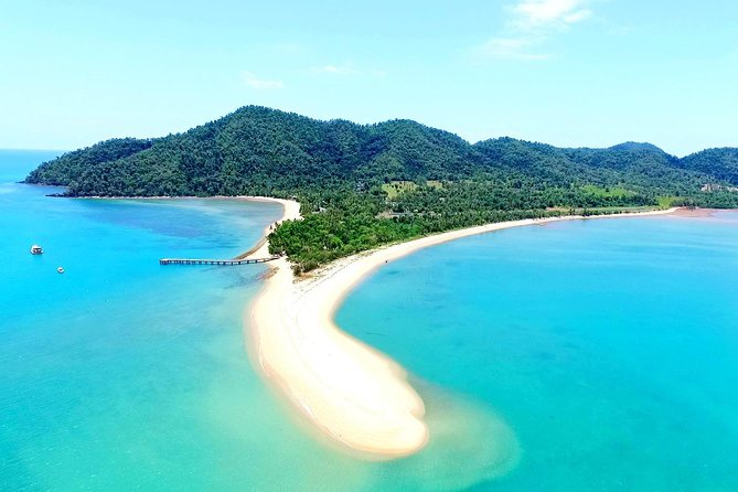 Book a round-trip transfer by water taxi to visit Dunk Island from Mission Beach. When you arrive on Dunk Island, located between Townsville and Cairns, you are free to enjoy it however you wish at your leisure; perhaps explore the rainforest walking tracks, go snorkeling or fishing, or just find your own slice of paradise and relax. The water taxi ride is just 10 minutes each way by fully enclosed 33-foot (10-meter) vessel, which whisks you across the azure waters of the Coral Sea. When booking, select from three options to suit your preferences for departure time and amount of time on the island.