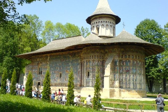 One day trip with driver-guide to see the highlights of the famous UNESCO World Heritage sites of the Monasteries of Bucovina. Visit the monasteries of Voronet, Moldovita and Sucevita. Also discover the secrets behind the traditional black pottery in Marginea.