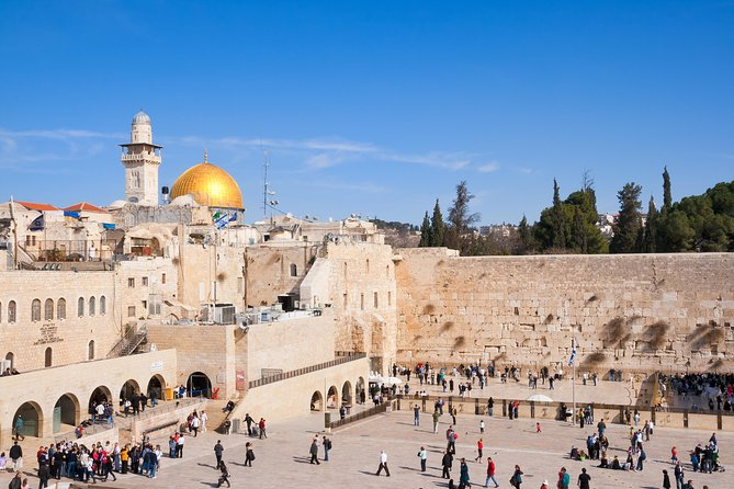 Starting from Tel Aviv, cover three of the region's top sights in just a day. Drive to Jerusalem, and explore the Old City with our guided tour which includes the Western Wall, Via Dolorosa and Church of the Sepulchre. Enjoy a tourBethlehem, the city of the birth of Jesus Christ including Church of the Nativity. Descend through the JudeanDesert to theDead Sea. Float in the waters and immerse in the famous muds. Ending the day, return to Tel Aviv.