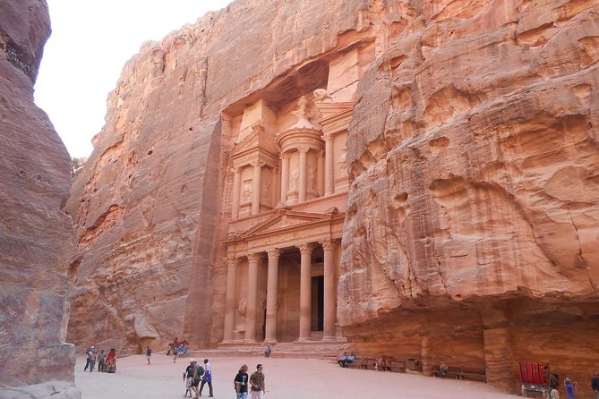 A magical day tour in Petra.Choose any date and enjoy a beautiful tour to Petra with pro guides. Pickup/drop off from hotels in Aqaba.Departures every day.