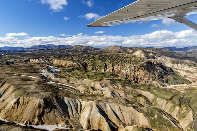 This tour takes you over the beautiful area of Lakagígar, a crater chain that created in 1783 by one of the largest volcanic eruptions in recorded history. From there we fly over Landmannalaugar, the beautiful valley between the mountains,before returning to Skaftafell. On this tour passangers will see glaciers, volcanoes and the beautiful landscape north of Mýrdalsjökull glacier.