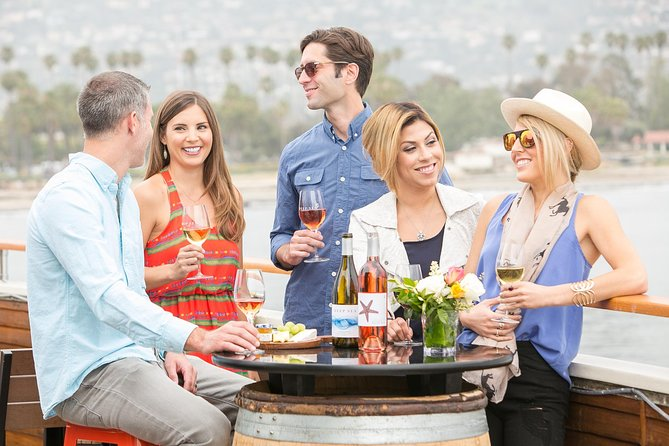 Experience Santa Barbara's wine culture through this self-guided tour using your mobile device. Enjoy stops at 4 different tasting rooms located throughout the Funk Zone and beautiful waterfront area, where you'll receive a glass of wine and special offers at each stop. The package includes 2 for 1 tasting coupons at additional tasting rooms if you'd like to extend the wine outing. Sip at your own speed because the package items are redeemable for a year from purchase. <br><br>Please note: the Funk Zone Uncorked is an app-based tour and self-guided. Use the Seeker app on your smartphone to guide you to each location and redeem included wine at each stop. The outing is great for corporate, special occasions, and wedding groups because once you've purchased the pack, all you need is your phone; there's no need to pay at each individual location.