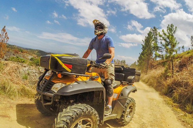 On this small group, quad bike adventure you will have an opportunity to see the real Fiji. This 2-3 hour experience includes a quick ride up Nadi's back road, past the biggest Hindu Temple in the South Pacific and then it's time for the off roading adventure to begin in the Nakala Mountains.<br><br>Splash through mud puddles (a seasonal offering), zip by cane fields, cross a neighboring river and ride higher up the pine forest mountainside before stopping on a mountain plateau overlooking the Mamanuca Islands. Here you'll enjoy light snacks whilst admiring the stunning views.<br><br>Winding tracks take you back to the main road through Nadi town. Enjoy a short stop at our local beach before heading back to base.<br><br>You'll be led by a local guide who will proudly tell you all about Fiji along the way.