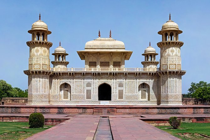 Book tickets in advance to avoid waiting in long lines. Enjoy a hassle-free visit to the Tomb of Itimad-ud-Daulah in Agra. Upgrade your tour to include optional guided tours and Transfers.