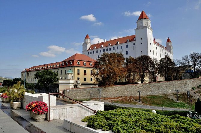 Venture into Bratislava on this private 10-hour tour with a friendly guide. Explore the capital of Slovakia's famous sights with the flexibility to customize the itinierary. <br><br>After a roughly 2-hour journey from Budapest, arrive in the picturesque Old Town of Bratislava and set out on a walking tour.<br><br>Gain a great overview of the city as you view its major sites, such as Michael's Gate, the only remaining gate of Bratislava's medieval fortifications, and Bratislava Castle.<br><br>Visit Grassalkovich Palace and learn about its history from your guide. Continue to the Primate's Palace, an 18th-century palace considered one of the most beautiful of Bratislava's buildings. Stop to enjoy a delicious lunch at a wonderful restaurant in the city center, and have some free time to explore and relax independently. Perhaps visit one of Bratislava's numerous coffee houses, browse for souvenirs at the shops, or view cultural places of interest.<br><br>After your tour, enjoy a relaxing drive back to Budapest.<br>