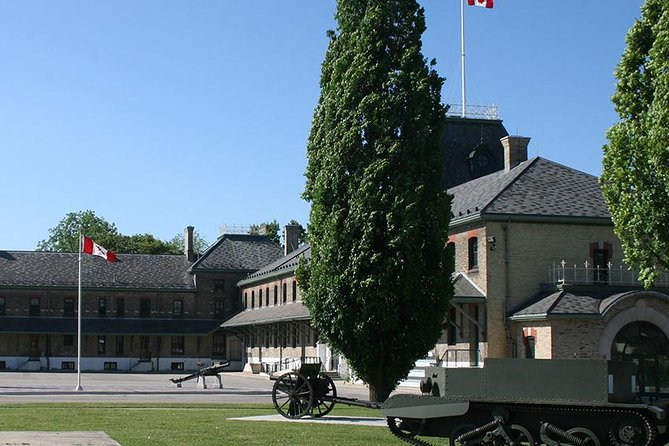 Enjoy a tour of historic Wolseley Barracks, home of The Royal Canadian Regiment Museum. The Royal Canadian Regiment Museum tells the story of Canada's senior Infantry Regiment. The museum is located in Wolseley Barracks, purposely-built military architecture in 1886-1888 by the Dominion Government to house the «D» Company of the Infantry School Corps.