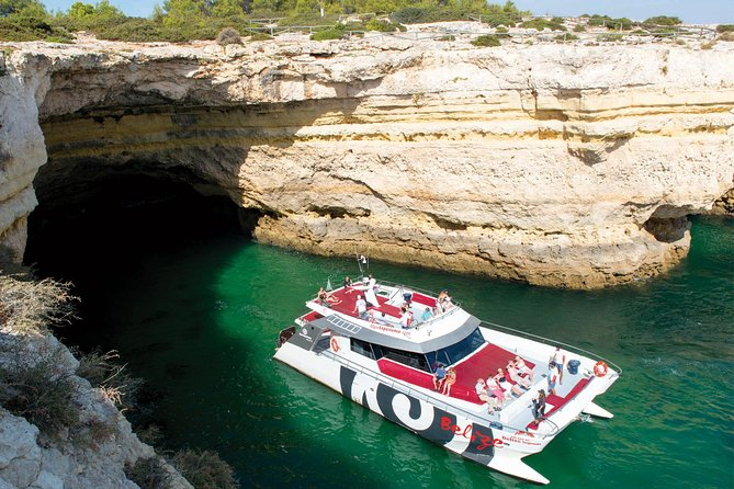 Enjoy a 3-hour cruise along the Algarve coastline, from Albufeira to Benagil, on a modern and fully equipped catamaran. Visit the sea caves including the world famous Algar de Benagil and stop for a swim during your journey.