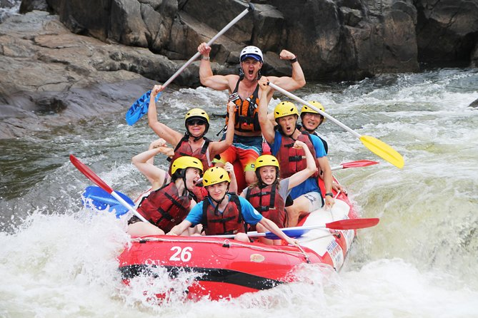 Enjoy an outdoor adventure in Queensland with a 2-hour white-water rafting tour in Barron Gorge National Park. This experience is a suitable introduction to river rafting for first-timers, providing an exhilarating time with a rafting guide. Take in rainforest views along the Barron River as you navigate rapids up to grade III. When booking, you have the option to include pickup in Cairns and the Northern Beaches or Port Douglas, or drive yourself to the starting point.
