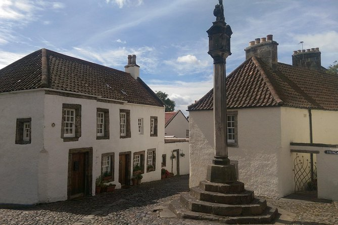 Enjoy a very interesting full day private tour from Dundee visiting many of the film locations used in the OUTLANDER TV series. If you are not familiar with this TV series, you should not be put off by this as the venues we visit are some of the best in Scotland and this makes for a very interesting and fun day. Tour is approximately 8-9hours in duration, and suitable for 1-8 persons. Highlights include;a visit to the historic village of Falkland, the historic village of Culross and 17th Century Palace (Cranesmuir),Deanston Distillery (Wine Warehouse, Le Harve) and Doune Castle (Castle Leoch). You will also see Stirling Castle and the Wallace monument as we pass by, visit Drummond Castle Gardens (Palace of Versailles) etc.