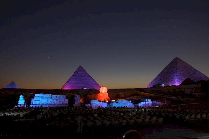 Giza pyramids , sphinx & then light show from Cairo Giza hotel with expert guide, Guiza, EGIPTO