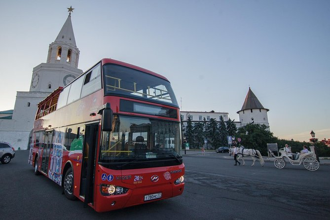 With the choice of a 48 or 72 hour ticket, City Sightseeing Kazan is the perfect way to explore the sights of this amazing city. Passengers can hop-on and hop-off at any of the 10 tour stops along the route to explore key attractions and landmarks at their own pace, including Yunusov Square, Bell Tower and Kazan Kremlin! Admire panoramic views of the city from the Bus' open-top deck and enjoy hearing all about its history, dating back to over 1,000 years ago, from our the tours recorded commentary!