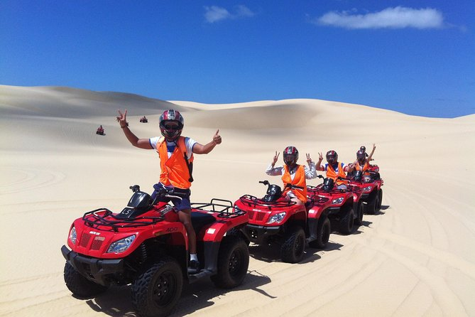 Enjoy an exclusive 'Cultural Quad Bike Riding' experience on the Worimi Sand Dunes, the largest coastal Sand Dunes in the Southern Hemisphere. This 1-hour quad bike experience is only a short drive to Port Stephens on the New South Wales north coast.  Whether it's a family day out or someone seeking that adrenalin rush; this is a great adventure on one of Australia's greatest kept secrets, the Worimi Sand Dunes!<br><br>We no longer operate childrens tours.<br><br>