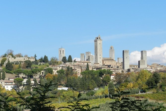 Enjoy a two-hour visit with a professional guide to the medieval Tuscan town of San Gimignano. This UNESCO World Heritage Site, with its famous towers and 13th century walls, is a gem hidden among green hills in the picturesque Italian countryside.