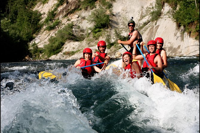 A 9 kilometer trip on Sava river might seem like a long distance if you would be up to swim it. It would probably end your holidays with hypothermia. So put on a wetsuit, life jacket and water shoes, grab a paddle and jump on board with our licensed rafting guides and you can experience the beautiful river banks in an enjoyable way. Stunning scenery, fun rapids and great company will make you want to paddle on and on all the way to the Black sea. Transfers in Bled and photos are complimentary.