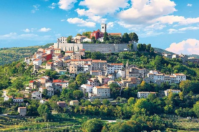 Enjoy the views from the historic hilltop towns of Istria during an 8-hour group excursion with a private guide. Snap a few photos of postcard-perfect scenery like olive groves, the Istrian coastline and countryside as you discover hamlets like Groznjan and Motovun. A wine tasting is also included.