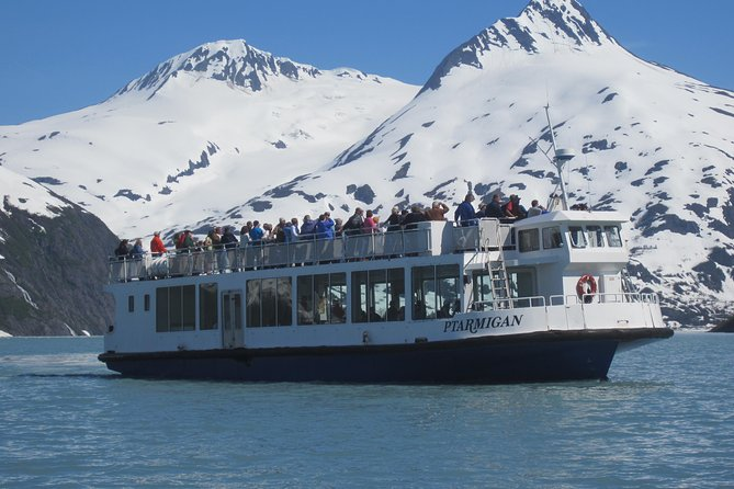 Take a Shuttle down Turnagain Arm and Immerse yourself in the natural beauty of Alaska on an outing that showcases the state's striking geographical features and abundant native wildlife. Spot hanging glaciers and Dall sheep as you drive along Turnagain Arm, then take an unforgettable cruise right up to the face of Portage Glacier. <br> • Shuttle Guided Tour along the Turnagain Arm, one of the worlds greatest scenic drives.<br> • One hour cruise to the face of Portage Glacier with Park Service Ranger.<br> • Visit to the Alaska Wildlife Conversation Center to view Alaska's most spectacular animals up close.<br> • Be prepared to walk through the Wildlife Center and be shuttled from Wildlife Center to Glacier.<br> • A shuttle will pick you up off the boat at 5:30 p.m. for your ride back to Anchorage with picturesque photo stops.