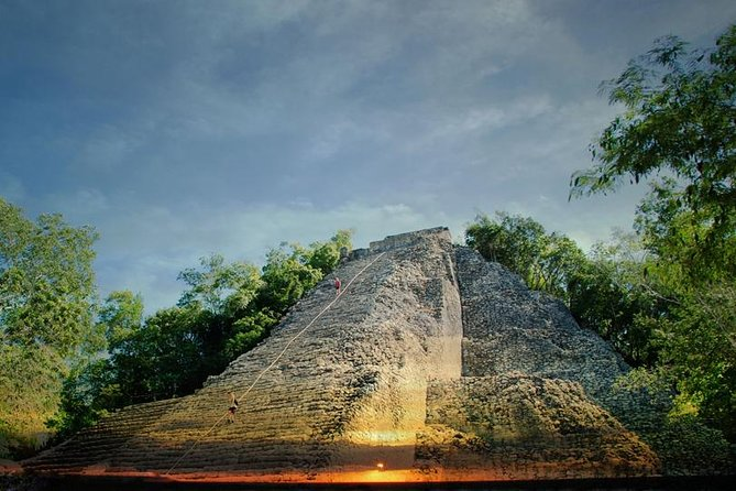 "This daylong, small-group tour is like a ""Choose Your Own Adventure"" book: visit the Mayan city of Coba by bicycle, explore the ancient ruins, and climb up a pyramid for panoramic views. Then, choose to zipline and swim in a ""cenote"" (underwater cave) or take a ceramics workshop to learn some of the secrets of Mayan culture. Enjoy a buffet dinner of regional specialties, wine, and dessert while watching a live show that includes music, dance, theater, and a traditional Mayan ball game."