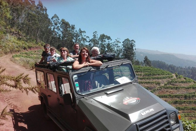 Booking with a small local company as we are,we assure to you that our groups are also small and riding with UMM in our cool army open top jeep, in a calm relaxed laid back trip driving through the old roads and off roads, This is the perfect ride for people visiting us on cruises,  and one of our most popular rides. <br><br>On this half day tour we will take you you to visit the Mountains. of Câmara de Lobos, 'the sea wolves' lair,' or wanting to explore and discover a beautiful agricultural hidden Madeira, going from sea level to 1000 meters will allow us to have a view over the Nun's Valley from a side were not many see, and go local for a great mountain freshly made poncha.<br>