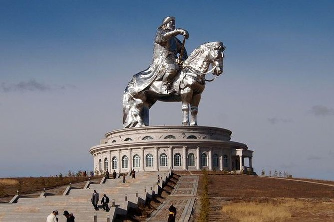 If you come to Ulaanbaatar, you should not miss Genghis Khan Statue Complex which is currently the biggest (131ft/40m tall) equestrian statue in the world. It is connected to Ulaanbaatar by a paved road of 34mi/54km. The complex includes a recreation area, restaurants, and souvenir shops occupying the base of the structure. From here, you could use an elevator or walk to the head of the horse through chest and back of the horse neck where you will have a fantastic panorama view over the nearby area.