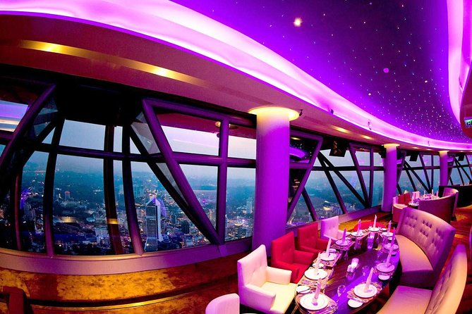 - Experience dining inside a revolving restaurant with amazing views of Kuala Lumpur City<br>- Enjoy your food at a height of 282 metres above the ground at one of the tallest tower in the city.<br>- Indulge in a wide spread buffet for either lunch, dinner or even afternoon tea.<br>- Sit back, relax and enjoy the delicious meal with a fantastic view.<br><br>From 1st August 2020 to 30th Sepetember 2020 we're serving Semi-Buffet!<br><br>What is Semi-Buffet?<br><br>Main dish (chef choice on the day) each customer can choose: Chicken, Beef, Lamb, Fish or Vegetarian (one serving per customer) <br><br>Free flow of soup, noodle, salad, pastry, cold cuts and fruits and also drinks (Coffee\Tea\Sky Juice)<br><br>- Hi-Tea is buffet, no main course -