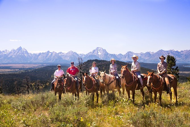 2 hour or 4 hour horseback riding trips with lunch, and all day horseback riding trips through the majestic beauty of the Bridger-Teton National Forest. You will experience amazing views of the Grand Teton Mountains as you climb higher and higher through the Aspen Tree Groves. Children must be at least 6 years old to ride.