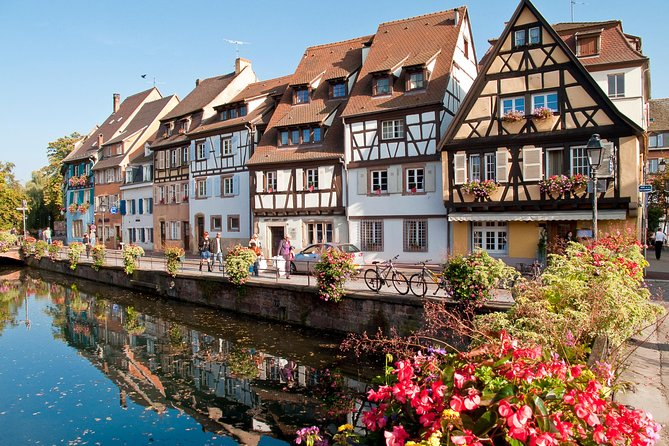 Thebeauty of the Alsace and its four wonders will be shared with you in this small group tour of up to 8 people. Your guide will also be the driver of the air-conditioned minivan that will pick you up in Colmar at 9am for this 8-hours tour. Alongthe wine route andthe beautiful vineyards, you will discover such picturesque charm in the villages, which are all very colorful and unique. Passing through all those vineyards might make you thirsty so the tour includes a tasting of the different wines in atypical wine cellar.