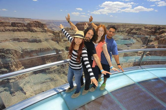 Hit the highway out of Las Vegas and spend the day touring the Grand Canyon's West Rim. On this day trip you'll have four hours at the Grand Canyon, with the option of walking on the popular Grand Canyon Skywalk for panoramic 360-degree views.