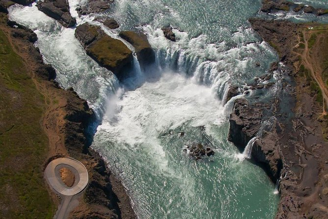Fly through the landscape of The Game of Thrones and Oblivion in this breathtaking flight of 60 to 80 minutes.    <br><br>Marvel at the rugged Icelandic landscape as you fly over some of the highest point of the north of Iceland. Godafoss (Waterfall of the Gods), Lake Mývatn and Dettifoss, Europe´s mightiest waterfall.