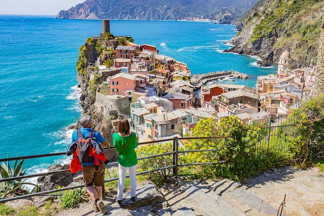 "Enjoy a private guided tour of Cinque Terre, one of the most dramatic coastal sceneries on the planet. Jump aboard the special ""5 Terre Express"" and get to see these five enchanting fishing villages. A truly unforgettable experience!"