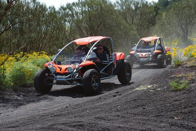 Discover the majestic Etna Volcano through a one-in-a-lifetime experience aboard a buggy. Follow your expert guide up and down the mountains while you admire the stunning landscape all around you and have a lot of fun with your friends or family.