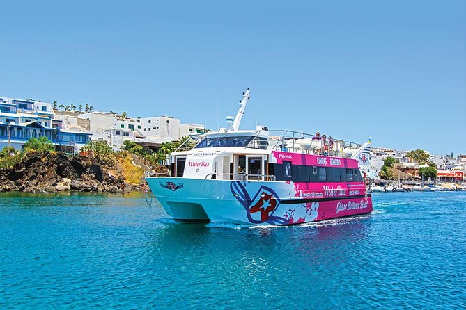 Regular water bus boat transport service connecting Marina Puerto Calero with Puerto del Carmen, a great affordable way to experience different locations.<br><br>
