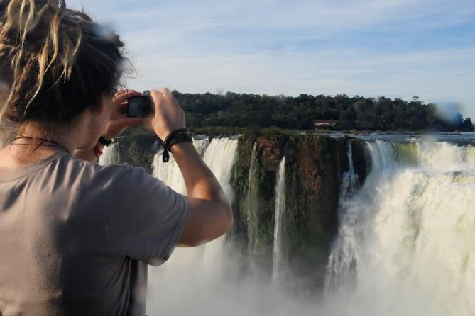 Visit the Iguazu Falls on the Argentinian side on a full day private tour with a professional and bilingual guide, taking in the new facilities for the upper, lower and the Devil throat circuits. Classified UNESCO World Heritage, the Iguazu Falls are the biggest water system in the world and a real wonder of nature, offering a spectacular landscapes. After walking on the platforms and balconies, you can combine this private tour with an optional nautical adventure experience and board on a boat to get as close as possible from the falls, reaching the Devils Throat from under. The maximum participants for this tour is 15.