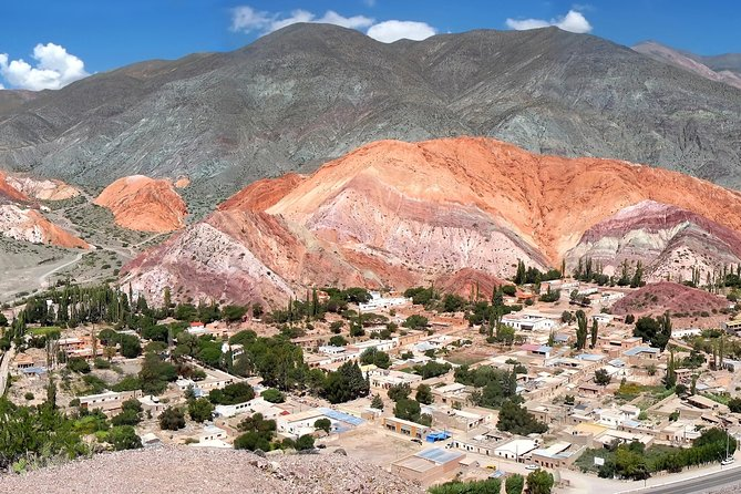Explore the sculptured mountain valley landscapes of the Quebrada de Humahuaca, a UNESCO World Heritage–listed gorge, on this full-day tour from Salta. Traveling the same route as the Incans once did, marvel at the serrated canyons and the ever-changing array of colors rippling down unusual rock formations. Stop at indigenous villages dotting this valley, including Purmamarca, Tilcara and Humahuaca, and visit adobe churches and ancient ruins. See sights in San Salvador de Jujuy before returning to Salta via the scenic and adventurous Route 9.