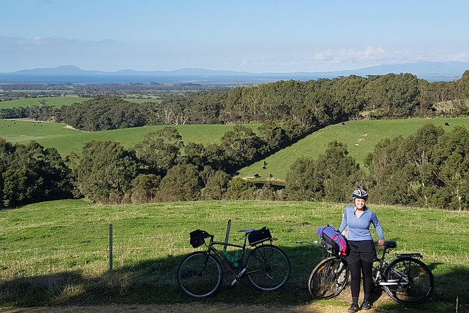 Cycle beautiful Gippsland. 2N 2D self-guided, fully supported cycle along the iconic Great Southern Rail Trail. Love the quirky towns. Fresh food, amazing wines, art galleries and panoramic views. <br><br>Choose your Getaway: Relax or Challenge<br><br>Unwind: 34k Leongatha to Fish Creek. Cycle the emeraldGippsland countryside. Love the forests, art galleries, cafes & native animals.<br><br>Entire: 72k Leongatha to Port Welshpool. Cycle the whole Great Southern Rail Trail. Enjoy sweeping vistas of Wilsons Prom with plenty of time to love the food, wines and friendly locals. <br><br>Grand: 160k Leongatha to Foster via the Grand Ridge. Step off the Rail Trail and up the hills to the temperate rainforests of the Grand Ridge Road. Cruise downhill with huge views. Coast home along the flat country.<br><br>Board your booked Vline coach at Melbourne Southern Cross Station. Arrive Leongatha. We will welcomeyou.