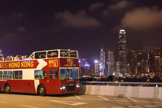 MÁS FOTOS, Recorrido nocturno en autobús Big Bus con techo descubierto en Hong Kong
