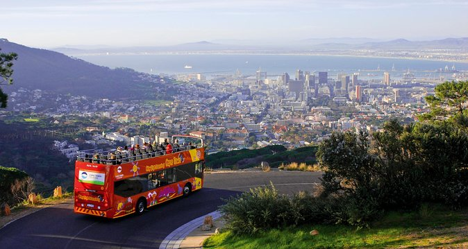 Go sightseeing in Cape Town via an open top, hop-on hop-off bus with City Sightseeing Cape Town. This flexible and family-friendly pass allows you to hop on and off the double-decker bus at any of the designated stops and explore Cape Town at your own pace. Choose from one of two ticket types when you book. Access all 4 tour loops with a Classic ticket option for 1 day or add a V&A Seal and harbour cruise in addition to the 4 bus loop access by choosing the Premium option for 2 days. Audio commentary is available in 15 languages and a special kids commentary is available in English.