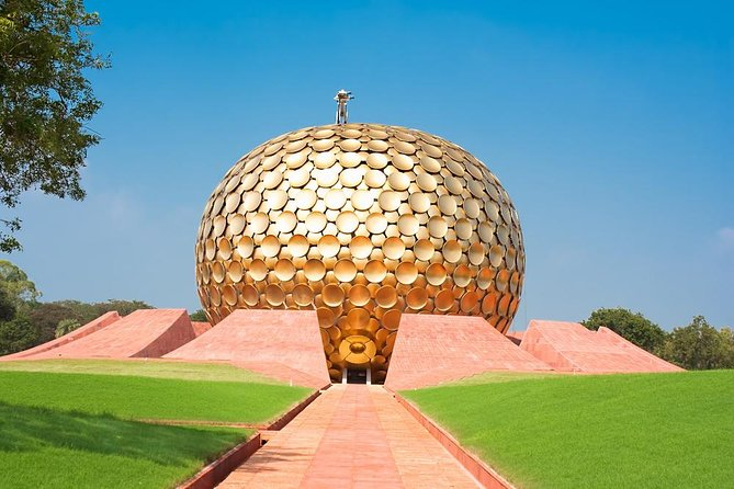Enjoy a serene escape from metropolitan Chennai on this private day trip to Pondicherry. Discover the region's unique cultural and spiritual heritage with visits to Sri Aurobindo Ashram and the Pondicherry Museum. Your private guide will teach you all about Pondicherry's French colonial influences, which are still apparent in the region's people, language, government and cuisine. Then, in Auroville, a fairly new town with a progressive spiritual community, explore inside the unique domed Matrimandir temple, an important place for practitioners of Integral yoga.